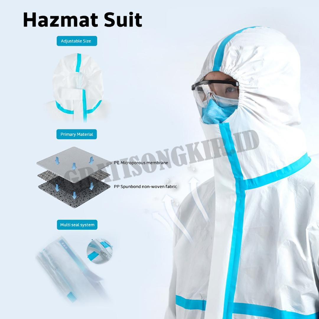 Pakaian Dekontaminasi (Hazmat Suit) Luna Life