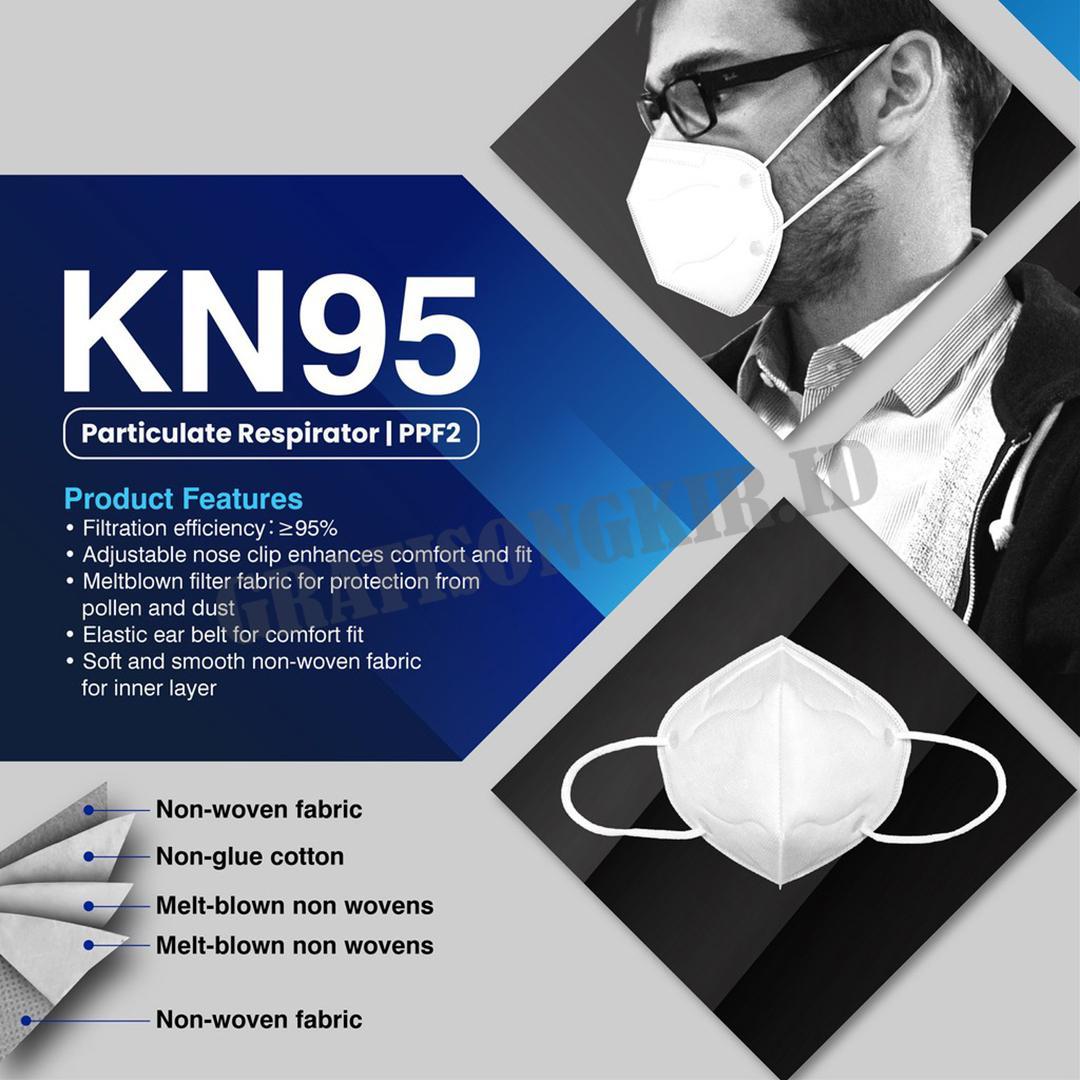 Masker Medis KN95 5 Lapis (isi 20 pcs)