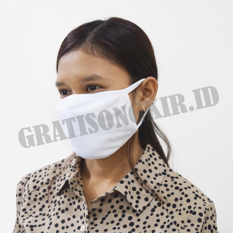 Masker Knit 2 Lapis (100 pcs)