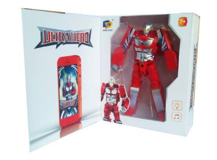 Mainan Ultraman Deformation Berubah jadi HP