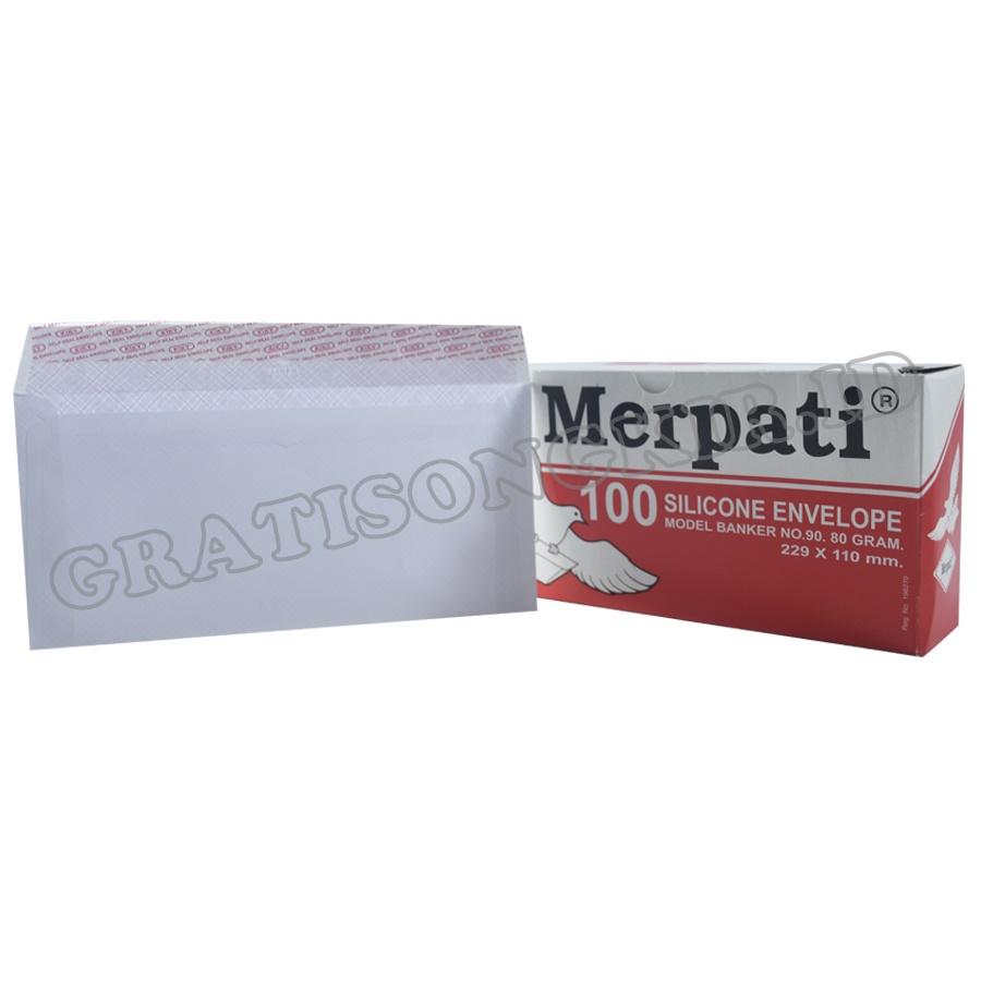 Amplop MERPATI Lab Merah 229 x 110 mm 100 pcs 80 gr